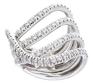 Piero Milano Oro Blanco 18K 0.91ct Pursuit of Diamantes Anillo - Size O 1/2