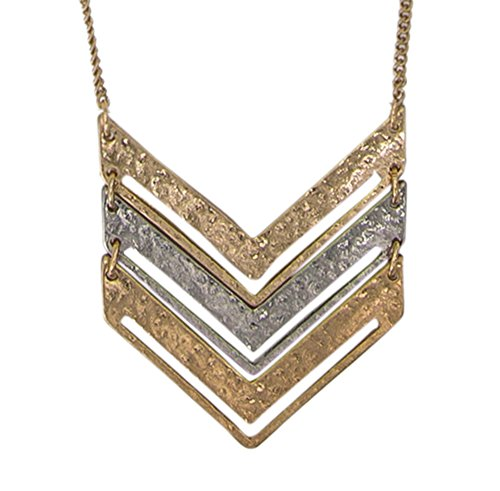 chevron-necklace-gold-chain-mixed-medal