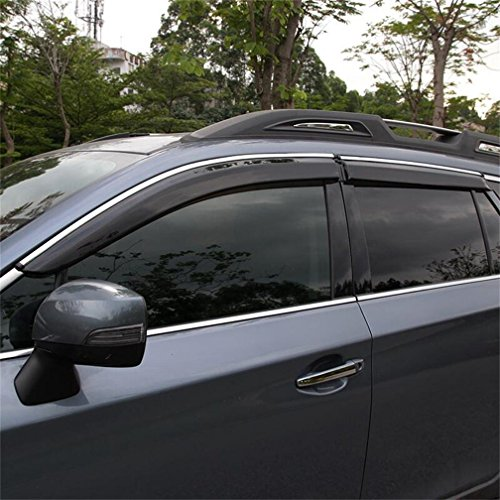 Vesul New Updated Side Window Visor Vent Rain Guard Shield Wind Deflectors Sun Shade Compatible with Subaru Outback Smoke Gray 2015 2016 2017 2018 - Deflectors Wind Subaru