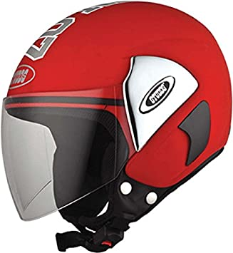 Amazon.com: Studds Cub 07 - Casco abierto (rojo): Sports ...