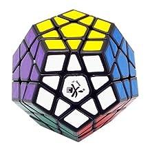 Dayan B00ADZDJX20808 Megaminx Black without Ridges Speed Cube Puzzle