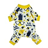 #6: Fitwarm Summer Pineapple Dog Pajamas Pet Clothes Cat Shirts Jumpsuits Apparel Yellow Medium