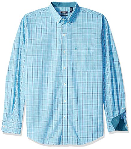 (IZOD Men's Premium Performance Natural Stretch Check Long Sleeve Shirt (Regular and Slim Fit))