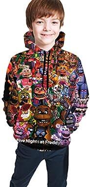 Five Nights at Freddy FNAF Fun Teen Hooded Sweate Black Comfortable Classic Boy Girl