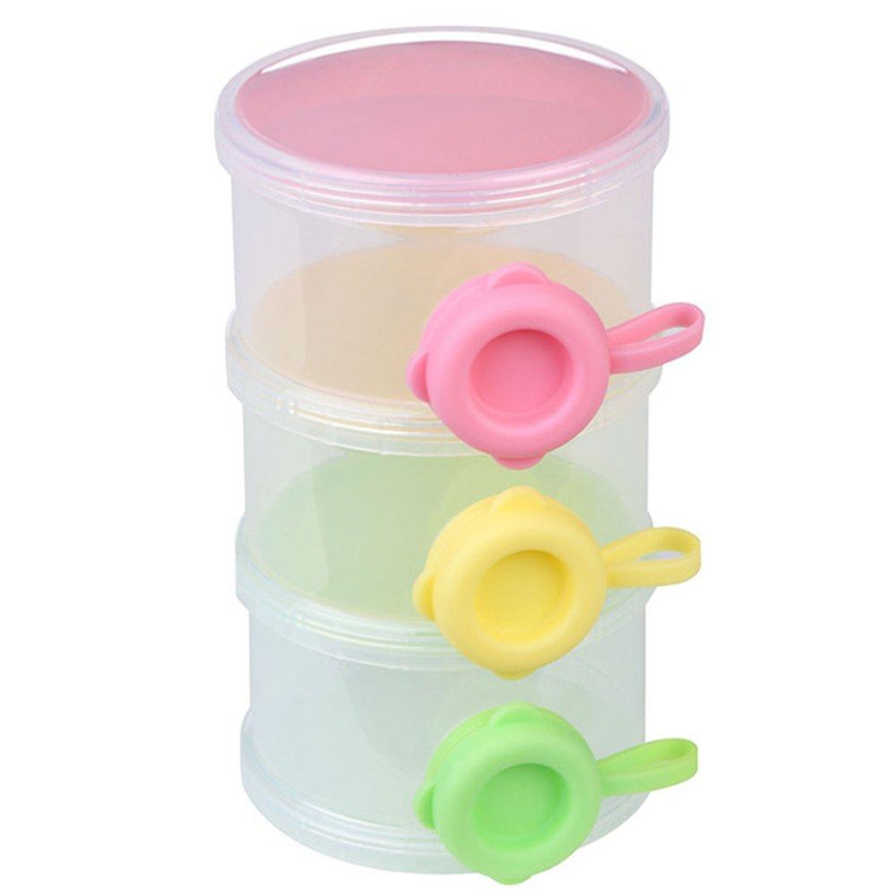 Portable Travel 3 Layer Infant Baby Milk Powder Food Dispenser Container Case Bottle Box Gosear