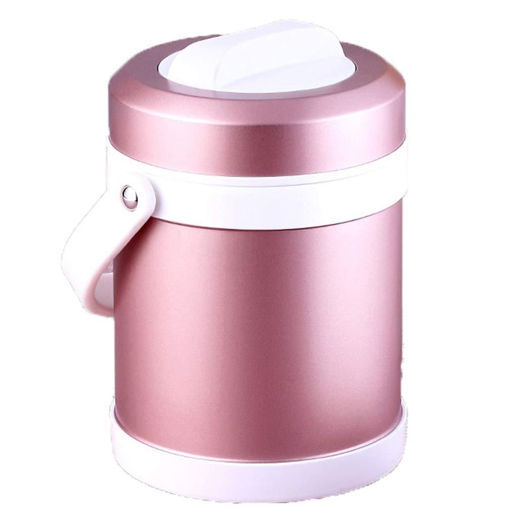 Fiambrera aislada, fiambrera portátil portátil de aislamiento de vacío, barril, de gran capacidad, de grado alimenticio, de acero inoxidable 304, aislada.