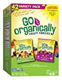 Go Organically Organic Fruit Snack Variety Pack, Medley and Mixed Berry, 42 Count