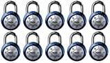 Master Lock 1561DAST Dial Combination Padlock, 1 Pack, Assorted Colors (Вundlе оf Tеn)