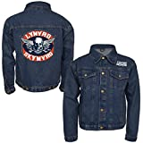 Lynyrd Skynyrd Men's Biker Patch Denim Jacket Denim Jacket Small Denim
