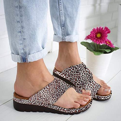 - 2019 New Women Comfy Platform Toe Ring Wedge Sandals Shoes Summer Beach Travel Shoes Comfortable Flip Flop Shoes