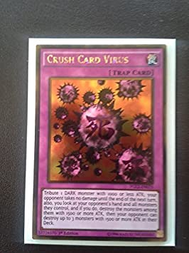 Yu-Gi-Oh! - Crush Card Virus (PGL2-EN070) - Premium Gold: Return of the Bling - 1st Edition - Gold Rare by Yu-Gi-Oh!: Amazon.es: Juguetes y juegos