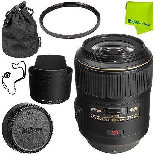 Nikon AF-S VR Micro-NIKKOR 105mm f/2.8G IF-ED Lens Base Bundle by Nikon