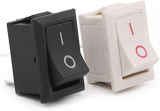 Homehold applicazione On//Off interruttore a bilanciere,15/pezzi nero e 15/pz bianco mini barca interruttore a bilanciere auto auto barca rotonda Rocker per auto barca auto