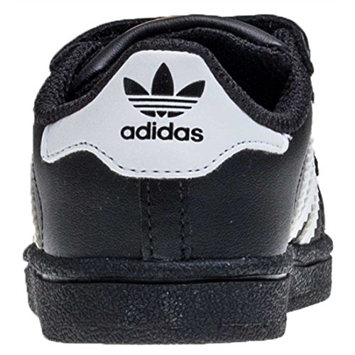 adidas Superstar Foundation Unisex-Kinder Sneakers Schwarz