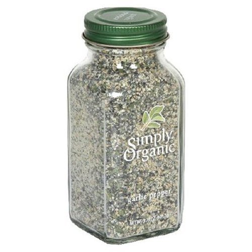 Simply Organic Garlic Pepper Certified Organic, 3.73-Ounce Containers  (Pack of 3) by Simply Organic