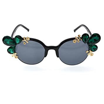 JUNHONGZHANG Gafas De Moda Flor Metálica Personalizada Gafas ...