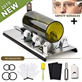 DoreenBow Bottle Cutter Kit Glass Bottle Cutter Tool for Round, Square and Oval Bottle Cutting Glass Cutting Tool with Gloves, Sanding Paper, Isolation Rings for DIY Projects Crafts