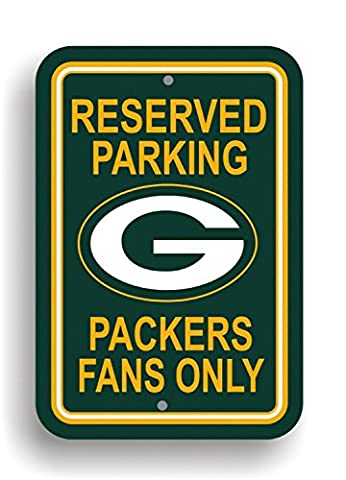 NFL Green Bay Packers Plastic Parking Sign - Green Bay Packers House