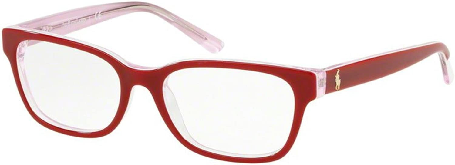 Eyeglasses Polo Prep PP 8532 5710 SHINY TOP RED ON CRYSTAL PINK