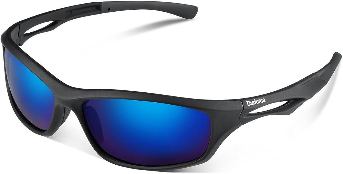 Duduma Gafas de Sol Deportivas Polarizadas Para Hombre Perfectas Para Esquiar Golf Correr Ciclismo TR90 Súper Liviana Para Hombre y Para Mujer