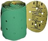 3M 01566 Stikit Green 6'' 80D Grit Dust-Free Disc Roll