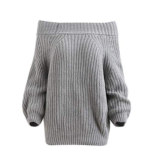 Gris Femme Sweatshirt Elecenty Chemise Courte Jumper Oversize Tops Hiver hiver Chaud Pull Sweater Automne Chandails xYYqT56wr