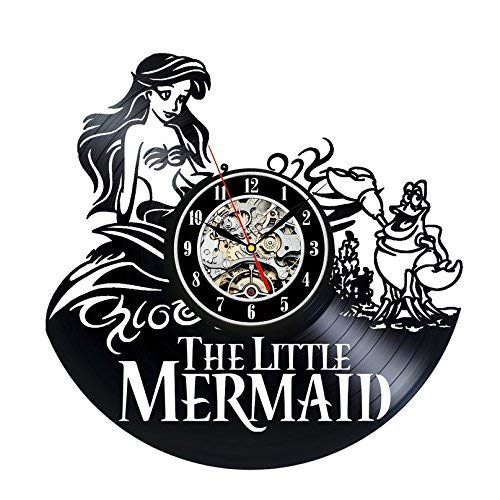 The Little Mermaid Logo Best Wall Clock Decorate Your Home with Modern Large Superhero Art Gift for Friend Man and boy