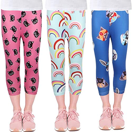 LUOUSE Girls Stretch Leggings Tights Kids Pants Plain Full Length Children Trousers, Age 4-13 Years]()
