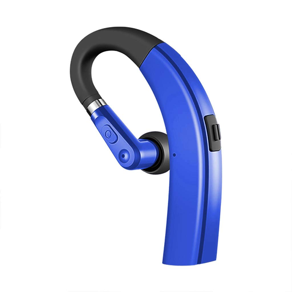 Karooch Bluetooth 4.1 Wireless Earbuds Headset Stereo Headphone Earphone Hanging with Super-Large Power Batteries Ear Ergonomic Design Compatible with iPhone 11 Pro Max/Xs Max/XR/X/7/8 Plus (Blue)