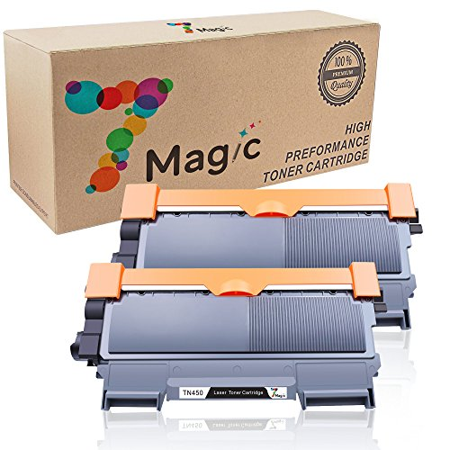 7Magic Compatible Toner Cartridge Replacement for Brother TN450 TN420 Use in Brother HL-2220 HL-2230 HL-2240 HL-2240D HL-2270DW HL-2280DW MFC-7360N MFC-7460DN MFC-7860DW DCP-7065DN Printer (2Black)