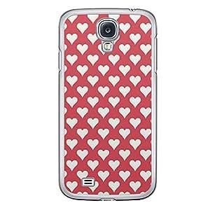 Loud Universe Samsung Galaxy S4 Love Valentine Printing Files A Valentine 105 Printed Transparent Edge Case - Red/White