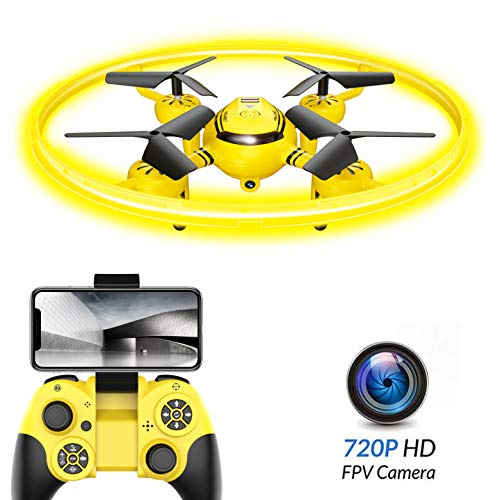 HASAKEE Q8 FPV Drone with HD Camera 720P and Night Light,RC Drones for Kids Quadcopter with Altitude Hold Gravity Sensor and Gesture Control,Gift Toy for Boys and Girls (Best Drone With Hd Camera Under $100)