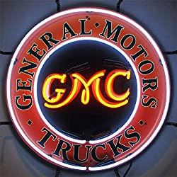 Neonetics 5GMCBK GMC Trucks Neon Sign with Backing