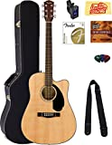 Fender CD-60SCE Dreadnought Acoustic-Electric Guitar -...
