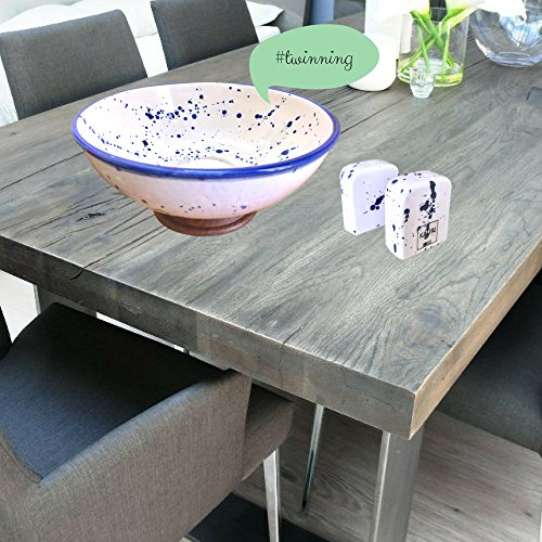 Kauri Ceramic Salt Shaker Set - White Splatter Salt & Pepper Shakers for Cooking and Kitchen Decor by Kauri (Image #5)