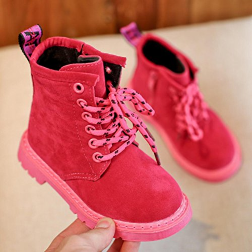 BZLine® Baby Girls Martin Sneaker Winter Dicke Schnee Baby Casual shoes Stiefel Hot Pink