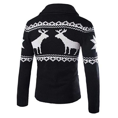 shirt Sweat De Noël D'hiver Pull Noir Manteau Cardigan Veste Hommes Tricots TxqOwzCf