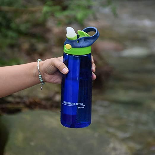 CORB Botella de Filtro de Agua, purificador Agua portátil, 2 ...