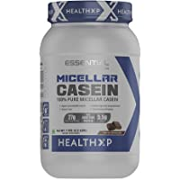 HealthXP 100% Micellar Casein Protein Powder 1 Kg - Chocolate/28 Servings/27 gms Protein Per Servings (Essential Series)