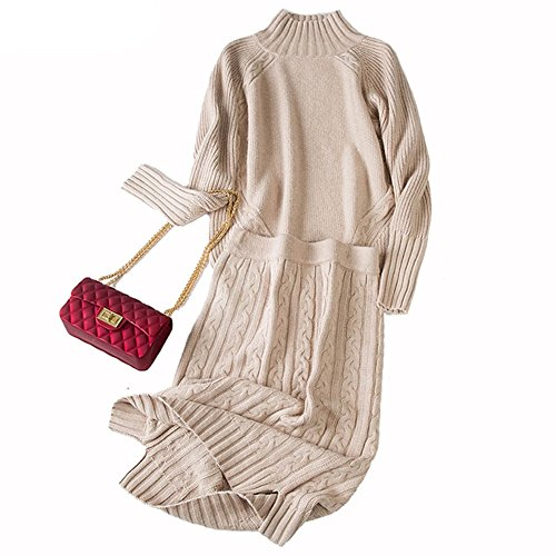 WOMEN'S CASHMERE SWEATER AND MIDI SKIRT SET NOW ONLY $79!