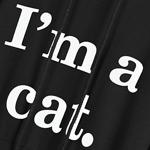 Felpa Pullover Felpe Donna Sportive Felpe Top 1 Ragazza Lunghe Camicia Elegante Cappuccio Nero Autunno Con Casual Donna Cappuccio Tops Camicetta Maniche Tumblr Luoluoluo Camicie con ZF8dtWzwZq