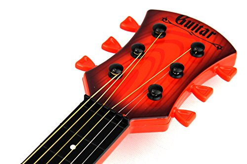 Party-Rock-Star-6-Stringed-Toy-Guitar-Musical-Instrument-w-Guitar-Pick-Colors-May-Vary