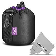 Altura Photo Small Neoprene Pouch Bag for DSLR Camera Lens (Canon, Nikon, Pentax, Sony, Olympus, Panasonic)