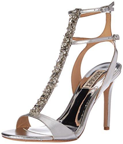 Badgley Mischka Women's Hollow Heeled Sandal, Silver, 8 M US by Badgley Mischka