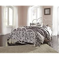 Loriday Casual Aged White Color Queen Metal Bed