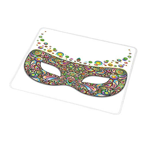 - Mouse Pad Rubber Mousepad Masquerade,Mask in Psychedelic Art Design Pop Makeup in Vibrant Rainbow Colors Pattern,Personality Desings Gaming Mouse Pad 9.8