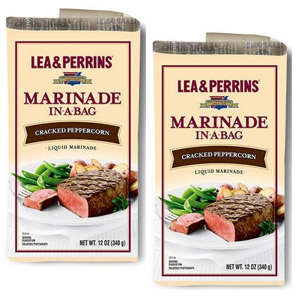 (Lea & Perrins Marinade In A Bag - Cracked Peppercorn - Net Wt 12 OZ (340 g) - Pack of 2)
