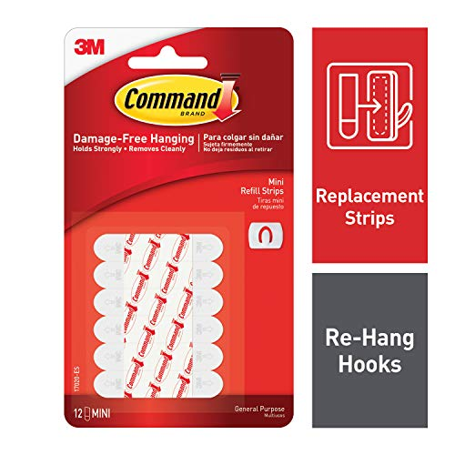 Command Decorating Clip Strips, White, 12-Strip