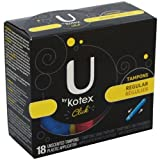Kotex Tampons Click Regular 18 CT (Pack of 24)