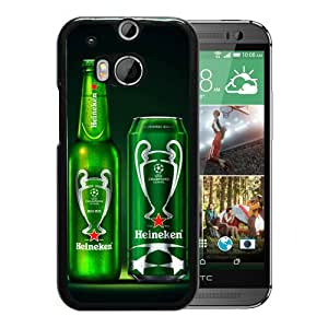 HTC ONE M8 Heineken Bottle And Can Black Screen Phone Case Cool and Popular Design